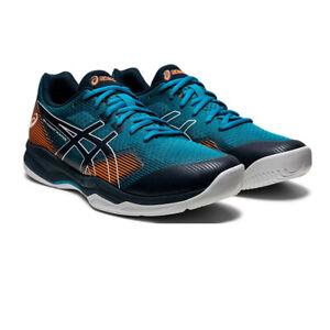 Asics Homme Gel-Cour Hunter Intérieur Cour Chaussures Bleu Marine Sports Squash Netball
