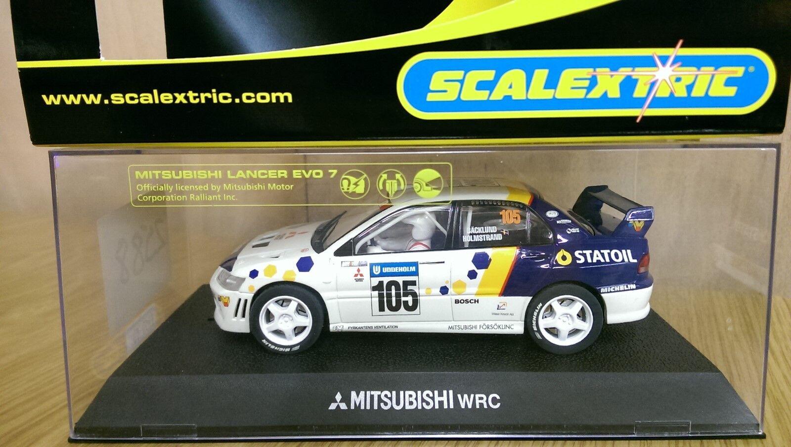 Scalextric C2588 MITSUBISHI LANCER EVO VII WRC No.105 muestra de producción previa Nuevo