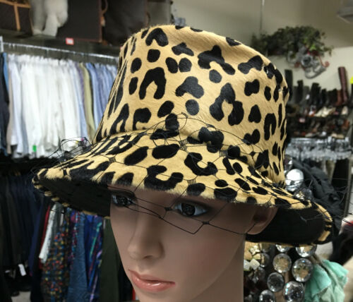 Dior Hat Brown And Black Pony Bucket Net Trim Lamb
