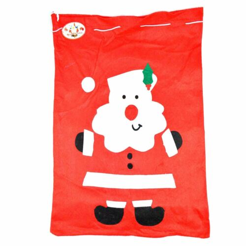 Large Father Christmas Santa Sack Red Stocking Bag Gifts Presents ELNO à tous Toy