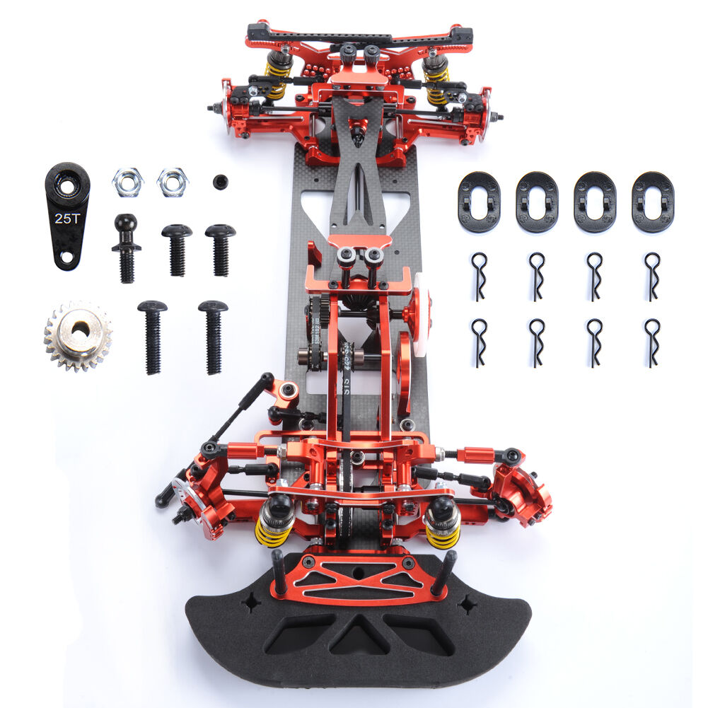 G4 Alloy Metal&Carbon Frame Body Chassis Kit For RC 1 10 RC Drift Racing Car 4WD