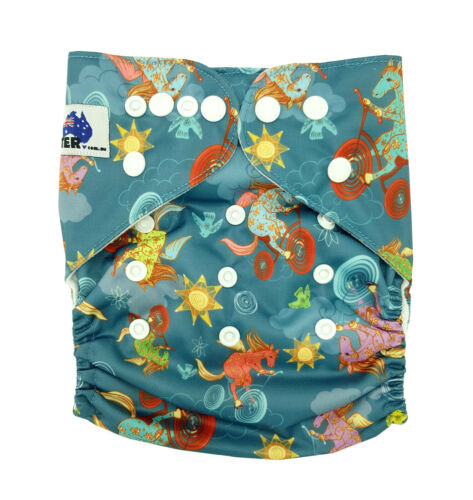 MODERN CLOTH NAPPIES MCN DIAPERS POTTY REUSABLE ADJUSTABLE HORSE RIDING SHELL