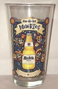 Modelo-Cerveza-Glass-Dia-De-Los-Muertos-Especial-Sugar-Skull-Party-Beer-Pint