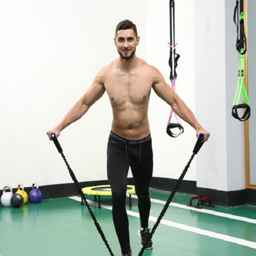 Resistance Band Set Workout Exercise Expander Body Shaper Yoga Crossfit Gym Soft