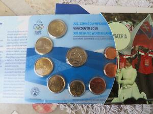 Slovaquie  - Coffret 2010 BU 1 Cent à 2 Euro  + medaille  (Vancouver 2010)  CPS
