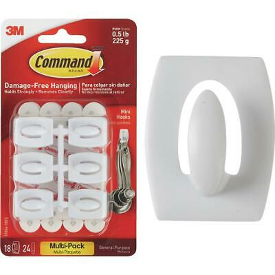 COMMAND 17006 Small Hooks /& Strips Pk6 Holds up to 0.5lb//225g White 17006