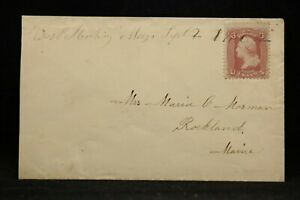 Massachusetts: West Sterling 1862 #65 Cover, Ms, DPO Worcester Co