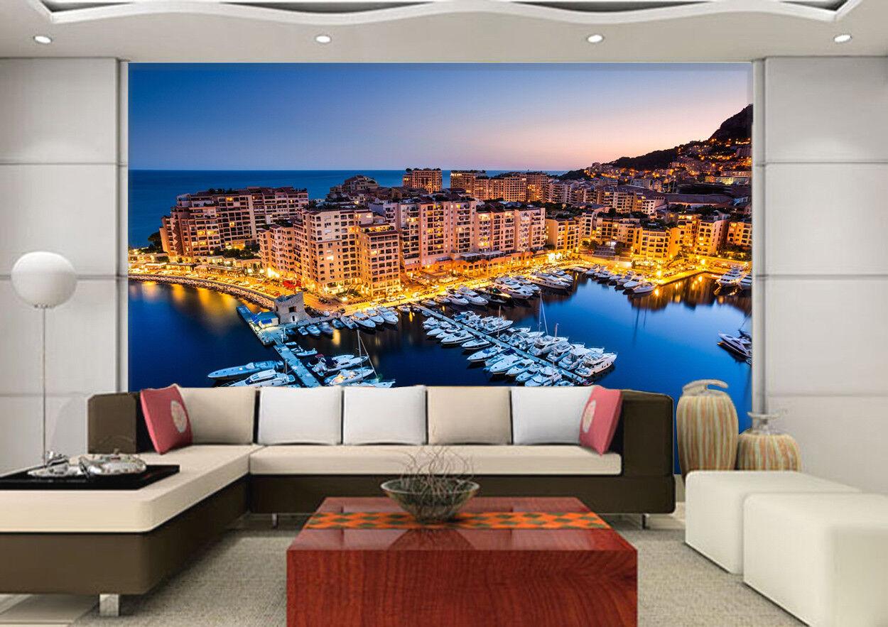 3D Sky Sea City 724 Wallpaper Mural Paper Wall Print Wallpaper Murals UK