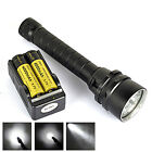 Underwater 200M 5x XM-L2 LED 9000LM Scuba Diving Flashlight Torch+18650+Charger
