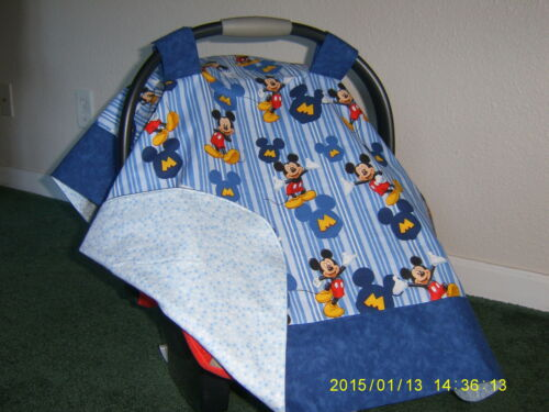 ** MICKEY MOUSE** Handmade Baby Infant Car Seat Canopy-Cover