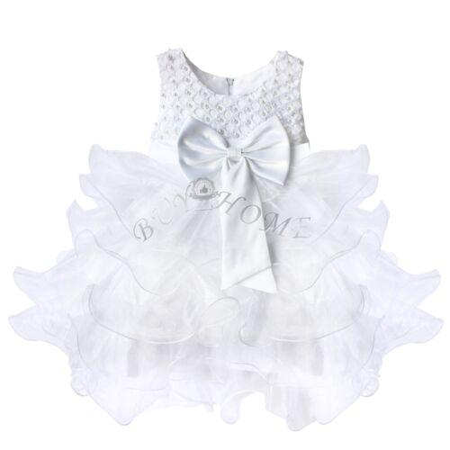 Baby Flower Girl Princess Birthday Formal Wedding Junior Bridesmaid Tutu Dress