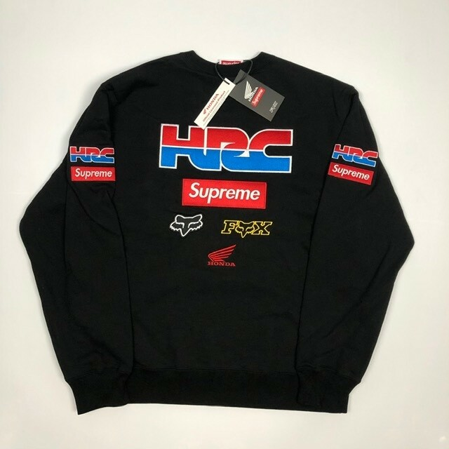 Sweater, Supreme  x Fox Racing x Honda, str. M,  Sort,…