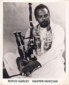 Rufus Harley ORIGINAL jazz press photo 1960s/1970s