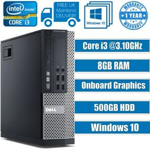 FAST-DELL-COMPUTER-DESKTOP-TOWER-PC-INTEL-CORE-i3-8GB-RAM-500GB-HDD-Windows-10