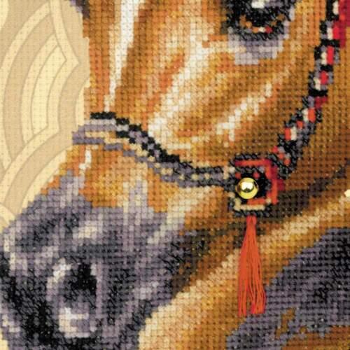 "/""Arabian Horse/"" Counted Cross Stitch Kit RIOLIS 0040 PT"