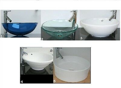Green, Blue, Clear, White, Glass or Ceramic Bathroom Sinks Basins