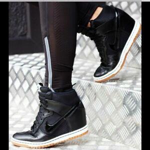 Nike Womens hidden Wedge Heel Sneakers