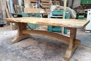 Image Is Loading Oak Live Edge Wood Slab Dining Table