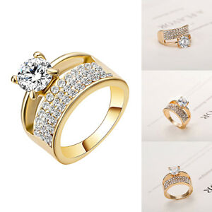 Women-Classic-Cubic-Zircon-Finger-Rings-Pave-Setting-Crystal-Wedding-Jewelry-US