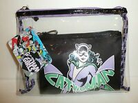 Gotham Girls Catwoman Cosmetic Case Makeup Bag Pouch Dc Comics Cat Woman Batman