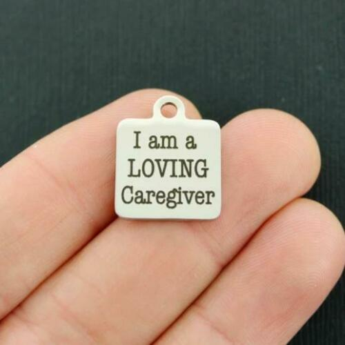 BFS2591 Occupational Stainless Steel Charm I am a loving caregiver
