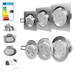 3w 5w 9w led einbaustrahler einbau strahler deckenleuchte spot lampe dimmbar ebay. Black Bedroom Furniture Sets. Home Design Ideas