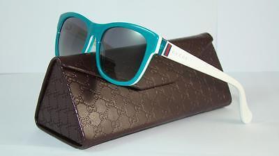Gucci GG 5009/C/S 8FMDX AQUA GREEN & WHITE Sunglasses Grey Gradient Size 50