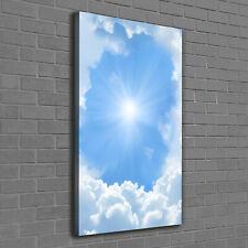Leinwand-Bild Kunstdruck Hochformat 60x120 Bilder Wolken Himmel
