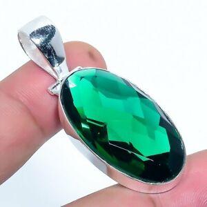 Green-Tourmaline-Gemstone-Handmade-Jewelry-Pendant-1-97-034-VS-43