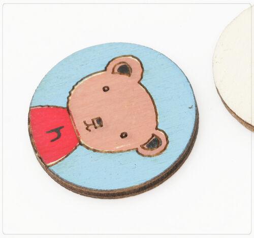 4x Holzfigur À faire soi-même Bricolage collage scrapbooking ours en peluche 25 mm bleu vitre wb310
