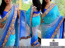 Designer sari Indian ethnic wedding pakistani bollywood lehenga party wear saree