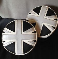 Monocromo Union Jack Spot lámpara, lámpara conducción cubre, Blanco Y Negro Mini Cooper
