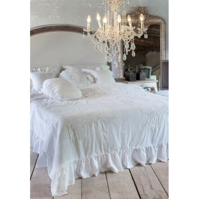 Embroidered Bedspread White 240 X 240 Cm by Blanc MARICLO for sale ...