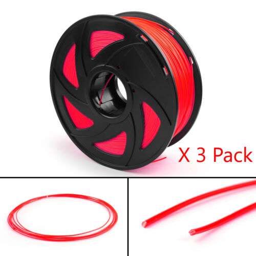 3 Pack 3D Printer Filament 1.75mm ABS PLA TPU PETG For Drawing Print Pen 1KG UN