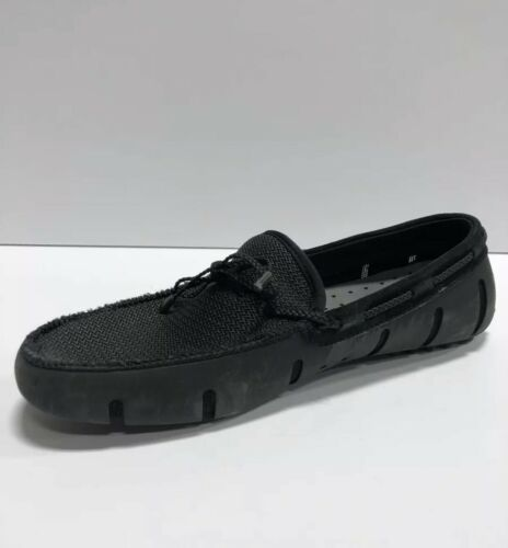 SWIMS Mens Braided Loafer Driver Black US10.5 M