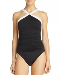 ed7897bb4d9 Ralph Lauren black Beach Club high neck one piece swimsuit size 10 ...