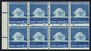 #1510c 10c Jefferson Conmemorativo, Folleto Panel De [4 ], Nuevo Cualquier 5=