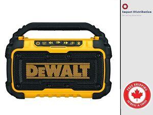 Dewalt DCR010 Dual Speaker Bluetooth Speaker [12 Volt / 20 Volt Corded/Cordless]