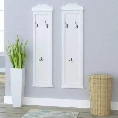 Vidaxl 2x appendiabiti da parete con 3 ganci bianchi for Appendiabiti parete