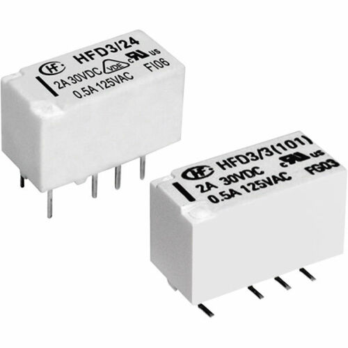 Hongfa HFD3//005-L1 PCB Signal Relay 5VDC Single Latching DPDT 2A