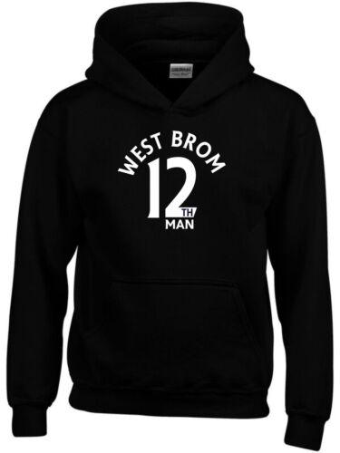 12th MAN West Brom Ventilatore Felpa con cappuccio da uomo