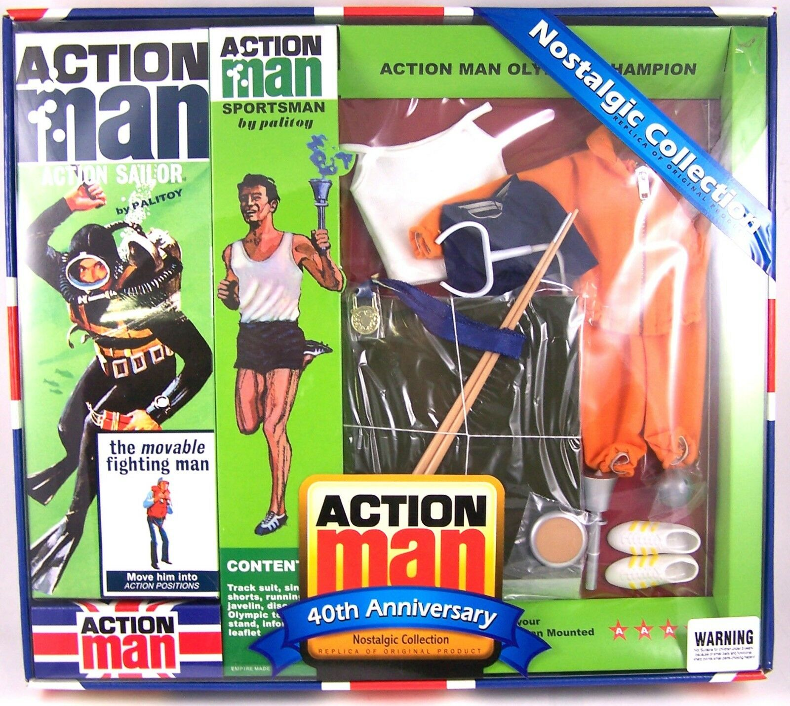 Action Man 40th Anniversary Olympic Champion Set (Includes figure) 12