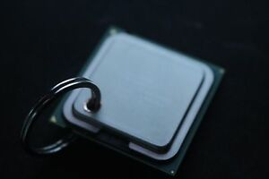 Authentic Intel CPU Keychain Creative Computer Charm Key Ring Gold Metal Chain
