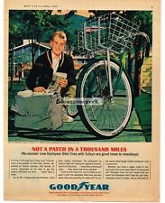 1964 Goodyear Bicycle Tires Newsboy Art  L.F. Vintage Print Ad