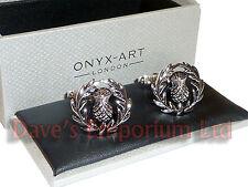 Scottish Thistle Cufflinks by Onyx Art - Gift Boxed - Scotland Scots