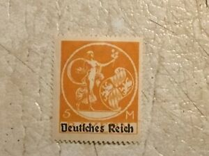 RARE-1920-Germany-5-Mark-Bavarian-stamp-with-overprint-type-UNC-Lot
