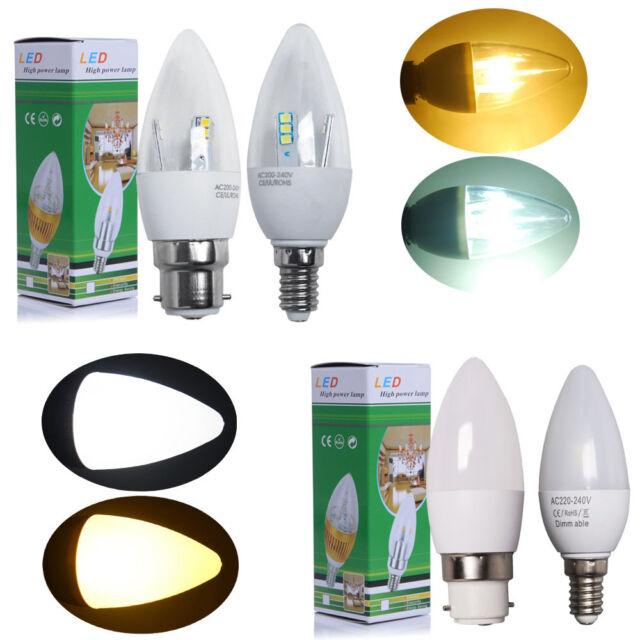 6/12x E14 SES B22 BC E27 ES 5W=50w LED Candle Light Bulbs Spotlight Energy Save