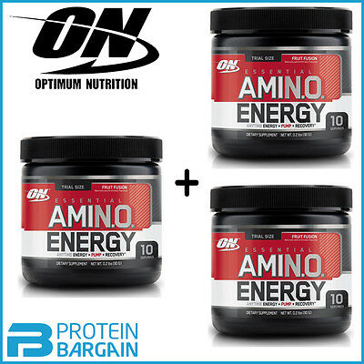 Optimum Nutrition Amino Energy 90g x 3=270g - 30 Servings - BCAAs ON BCAA