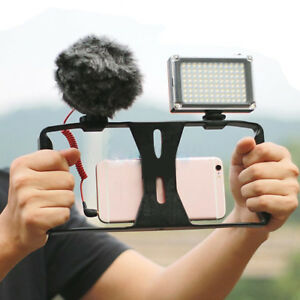 Handheld-Video-Cage-Stabilizer-Kit-Film-Steady-Handle-Grip-Rig-For-4-7-034-Phone