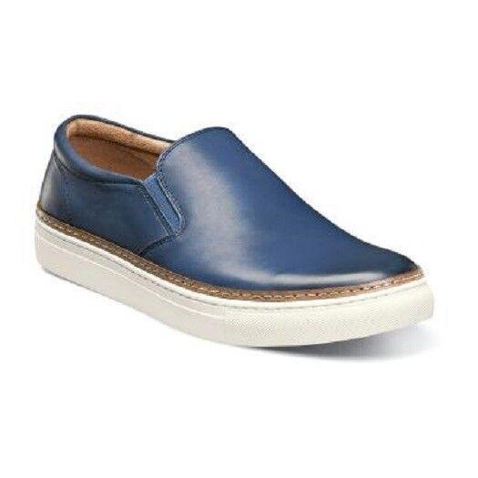 Florsheim Pivot Plain Toe Sin Cordones Hombre Zapatos Azul Cuero Slip On 15137-400